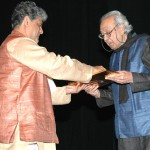 Receiving the S.H. Raza Award